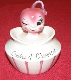 Holt Howard Cocktail Cherries Pixieware Jar 1950s