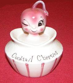 Holt Howard Cocktail Cherries Pixieware Jar 1950s