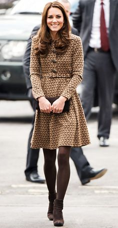 I consider myself an honorary Brit through my British boyfriend, so I have to adore everything Kate Middleton wears. This dress is just darling and great for dropping temperatures.