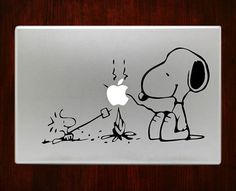 """Snoopy Campfire Decal Sticker Vinyl For Macbook Pro/Air 13"""" Inch 15"""" Inch 17"""" Inch Laptop Cover #charliebrowndecal #macdecals #macstickers"""