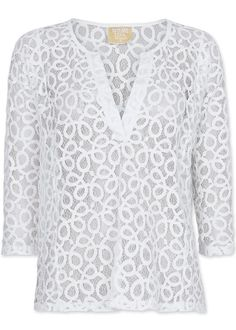 Bluse cremehvid blonde 171-174 Line of Oslo Lovely Short Woven Blouse - creme
