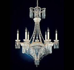 110 best victorian crystal chandelier images on pinterest victorian crystal chandelier schonbek victorian 6 light chandelier aloadofball Images