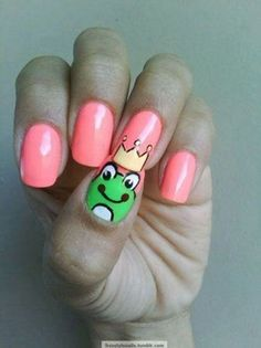 The Frog Prince from Cute N Easy Nail Designs.: