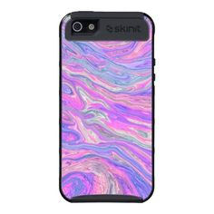 Liquid Pink Abstract  iPhone Case by MegaCase