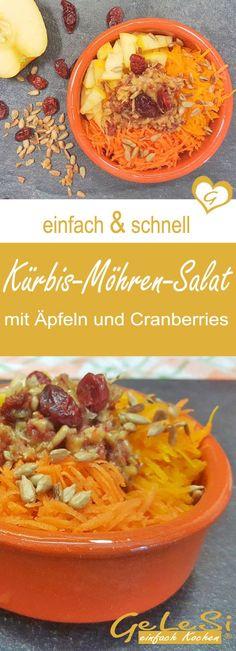 einfach und schnell: Rezept für Kürbis-Apfel-Möhren-Salat – Ruckzuck Rezept