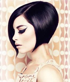 Bob's for Women of Color | Jet black hair color and a bob haircut also give a sexy look to your ...