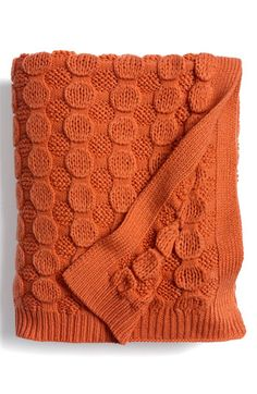 "Perfect ""bubble wrap"" knit throw for fall"