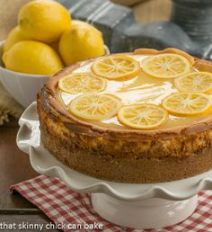 Lemon Bar Cheesecake by That Skinny Chick Can Bake!!!. My friend, and former interior designer, raved about this recipe for Lemon Bar Cheesecake after it was published in Southern Living last February.