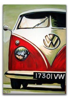 These Pop Art Artists Got Us Completely Swept Away! - There is a reason the pop art movement that began in the is still in our minds today. Arte Pop, Vw Bus, Volkswagen, Cuadros Pop Art, Vintage Sticker, Pop Art Decor, Car Wall Art, Peace Art, Surf Art