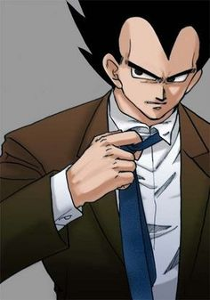 Prince Vegeta wallpaper probably containing a business suit called Vegeta's suit