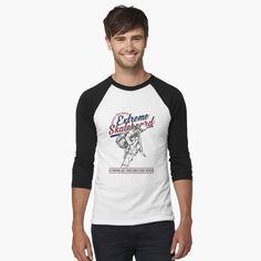 T Shirt Baseball, Athletic Looks, Pet Day, Fishing Humor, Looks Vintage, Classic T Shirts, Shirt Designs, Tees, Sleeves