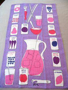 Vera juice Fabulous striking Vera Neumann towel by fuzzandfu