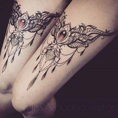 Cool lace tattoos by @missvoodooo  #wowtattoo #instatattoo #tattooist…