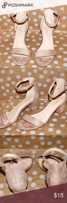 5f9c2ead67c J. Adams Daisy Mid Heel Sandal Nude 7.5 B(M) US This nude