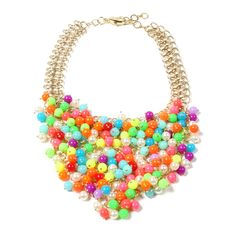 Thompson Street Necklace - Multi colored bib necklace