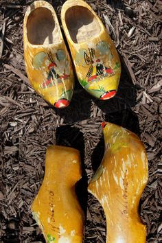 Children's wood clogs made in Holland