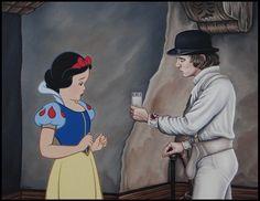 Disenchanted Disney by Rodolfo Loaiza Ontiveros - A Clockwork Apple - Snow White vs A Clockwork Orange