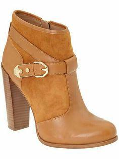 2e822f5e Cognac Brown Booties Tacos Zapatos, Sandalias, Zapatillas, Zapatos Altos,  Chatas, Ropa