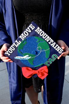 """My graduation cap! So proud of it! The line is from Dr. Suess """"Oh the places you'll go!"""""""