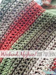 Free Pattern: Fast and Easy Crochet Throw done in a weekend! | thanks so xox by KYLEAN