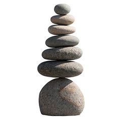Garden Decoration Stone, Natural River Stone Septuple Rock Cairn 7 Stacked Zen Garden Pile Stone to buy online for the cheapest price and free delivery.