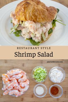 Making restaurant-style shrimp salad isn't difficult. It's about choosing the right shrimp and cooking them properly. You'll amaze your friends and family with delicious shrimp salad. Fish Recipes, Seafood Recipes, Dinner Recipes, Cooking Recipes, Lunch Recipes, Sandwich Croque Monsieur, Carnivore, Pasta Salad Recipes, Cold Shrimp Salad Recipes