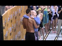 Matt Grevers proposing to his girl friend after winning his event! So cute! #swimmerlove