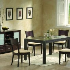 Chocolate Brown Dining Room Table