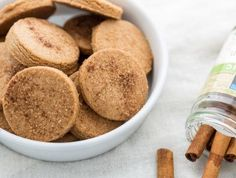 Crispy Cinnamon Cookies- whole wheat cookies, lightly sweetened and flavored with cinnamon & nutmeg. Great for tea time! Crispy Cookies, Buttery Cookies, Almond Cookies, Chocolate Cookies, Sweets Recipes, Easy Desserts, Cookie Recipes, Cookie Ideas, Salty Biscuit Recipe