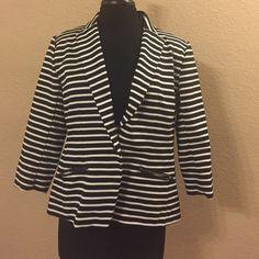 Striped blazer with three quarter length sleeves Striped blazer with three quarter length sleeves Christian Siriano Jackets & Coats Blazers