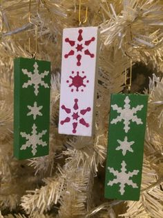 Christmas tree decorations wooden Christmas decor by FuNkTjUnK