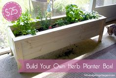 Diy Herb Planter Box -- $25