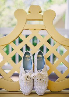 Keds on your wedding day. How cute!!!
