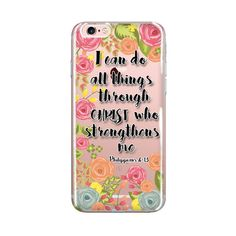 IPC0072 I can do all things through Christ who strengthens me - Philippians 4:13 Express your faith in art and style! :) This is perfect for those looking to protect your iPhone from the bumps and nicks of everyday life. ♥ PRODUCT DESCRIPTION This hybrid case combines a solid