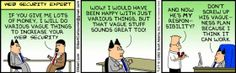 Web Security Expert #Dilbert #Geekhumor