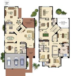 Colored floor my house plans, two story house plans, colonial ho Two Story House Plans, House Layout Plans, Dream House Plans, House Layouts, House Floor Plans, The Plan, How To Plan, Newport, Colonial House Plans