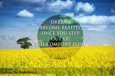 Dreams become reality once you step out of the comfort zone. #quote #HRockstars
