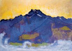 The Dents du Midi from Chesieres, 1912 Ferdinand Hodler