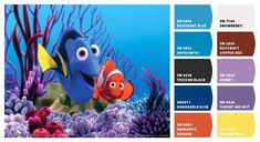 Nemo bathroom paint colors from Chip It! (www.Sherwin-Williams.com)