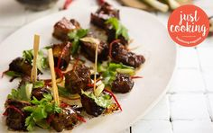 Asian pork belly cubes with fresh coriander Asian Pork Belly, Fresh Coriander, Recipe Search, Just Cooking, Fresh Lime, Roasting Pan, Serving Platters, Asian Recipes