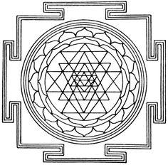 Portal de Mandalas: Yantra para pintar - Sri Yantra