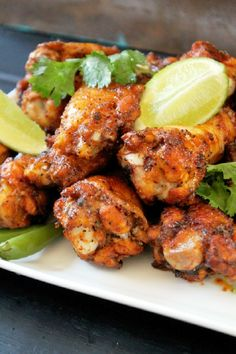 Baked Thai Chicken Wings @FoodBlogs