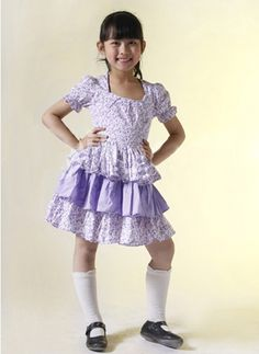 Multi Short Sleeves Ruffled Cotton Sweet Kids Lolita Dress on www.ueelly.com