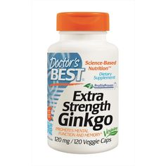 Buy Doctor's Best Extra Stength Ginkgo,120 Veggie Caps at Megavitamins supplement store Australia,Discount on volume available. Learn more - where to buy and what are the pros & cons Extra Stength Ginkgo,120 Veggie Caps.