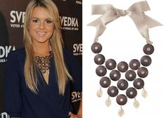 Ali Fedotowsky looks stunning wearing the Casablanca Bib Necklace - contact me to get your own!