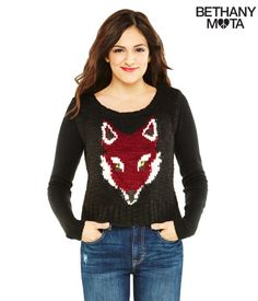 Fox Sweater from Bethany Mota's collection at Aeropostale:-)