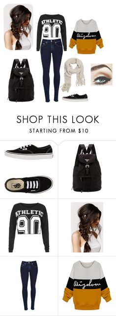 """Invierno ❄"" by believedirectioner22 ❤ liked on Polyvore featuring Vans, Prada, Lorna Jane, With Love From CA and rag & bone"
