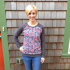 Selfish Sewing Week Challenge Entry: Floral Lane Raglan | Indiesew.com
