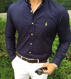 Fitted dress polo shirts for office