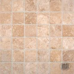 Buy Chiaro Tumbled Travertine Mosaic Tiles - THDW3-SH-CH2X2T at marble n things 2 in. x 2 in., Bathroom Walls, Kitchen Backsplash, Shower Walls, Living Room Floor from mosaictiledirect.net Online Store.